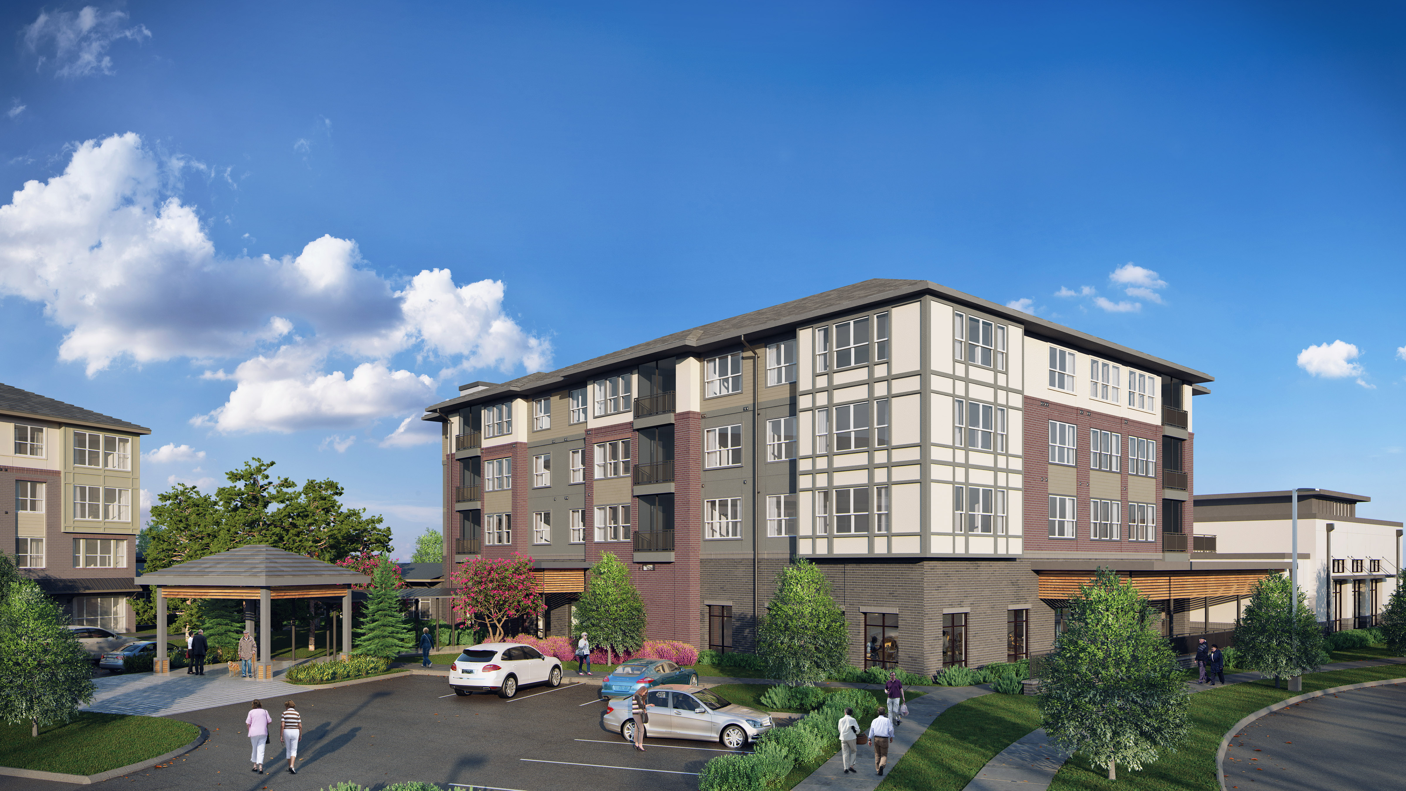 A rendering of Magnolia Place at Highland Springs