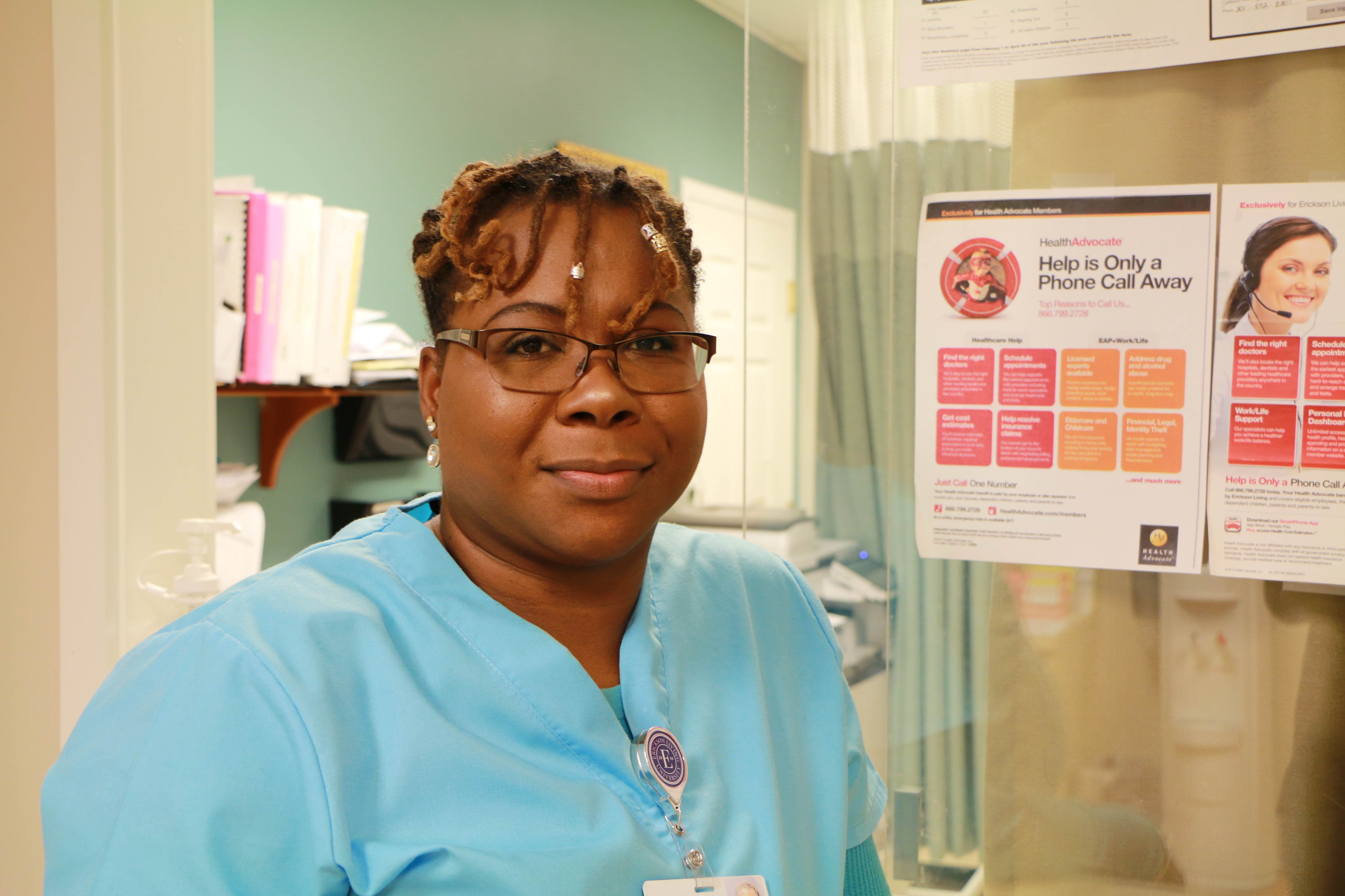 Riderwood Employee Health and Wellness Center Medical Assistant Meggan Madden. Photo by Julia Collins